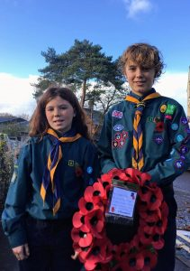 Scouts at Remembrance